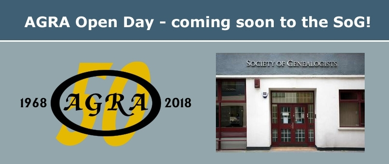 AGRA Open Day at SoG on Saturday 27 January